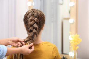 Art of braiding your own hair