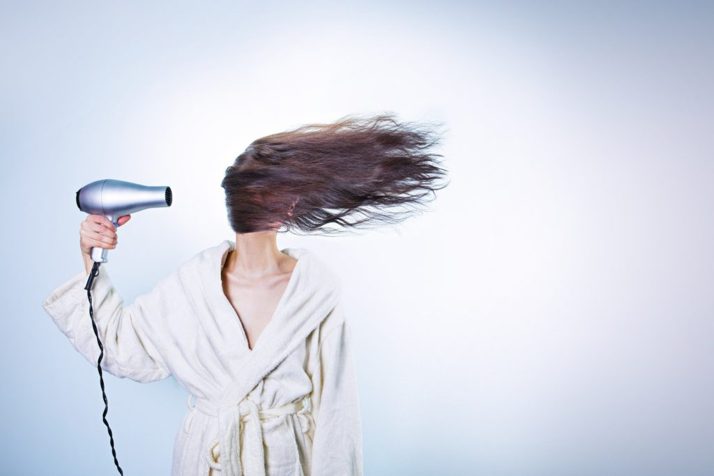 how to blow-dry long hair